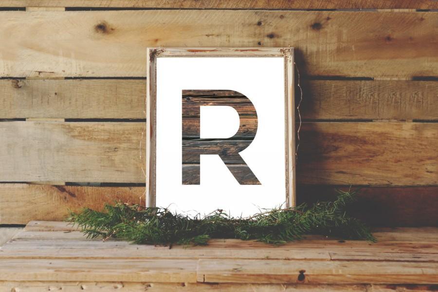Wedding - Letter R Print, Wooden Monogram, Wedding Monogram, Wood Wedding Decor, Letter Monogram, R Download, R Art, R Names, Letter R Art, Wood Art