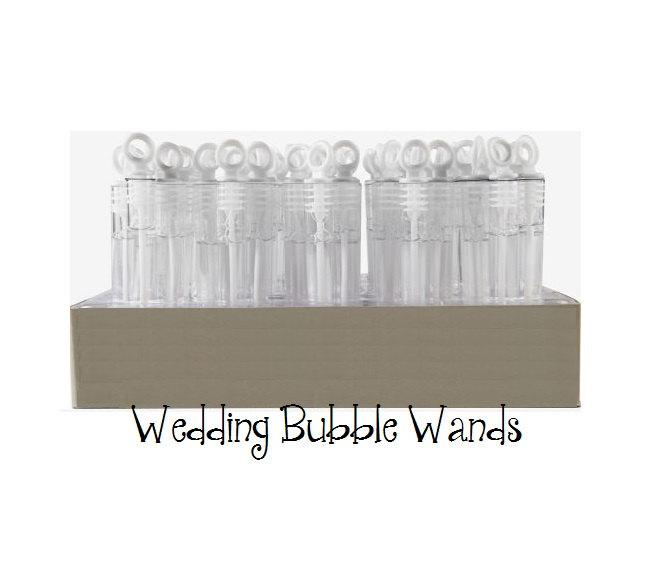 Свадьба - Wedding Bubble Wand Favors