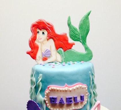 decor little mermaid ariel cake topper 2506784 weddbook. Black Bedroom Furniture Sets. Home Design Ideas