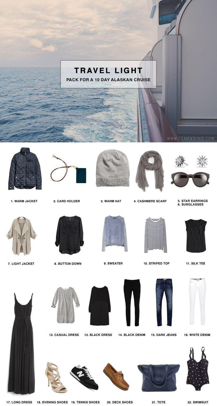 Mariage - Pack For 11 Day Alaskan Cruise