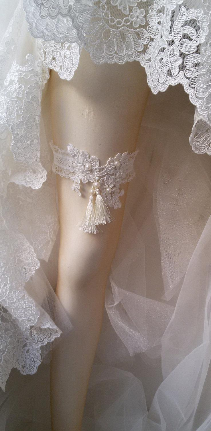 Wedding Garter Wedding Leg Belt Rustic Wedding Garter Bridal Garter Of White Lace Lace
