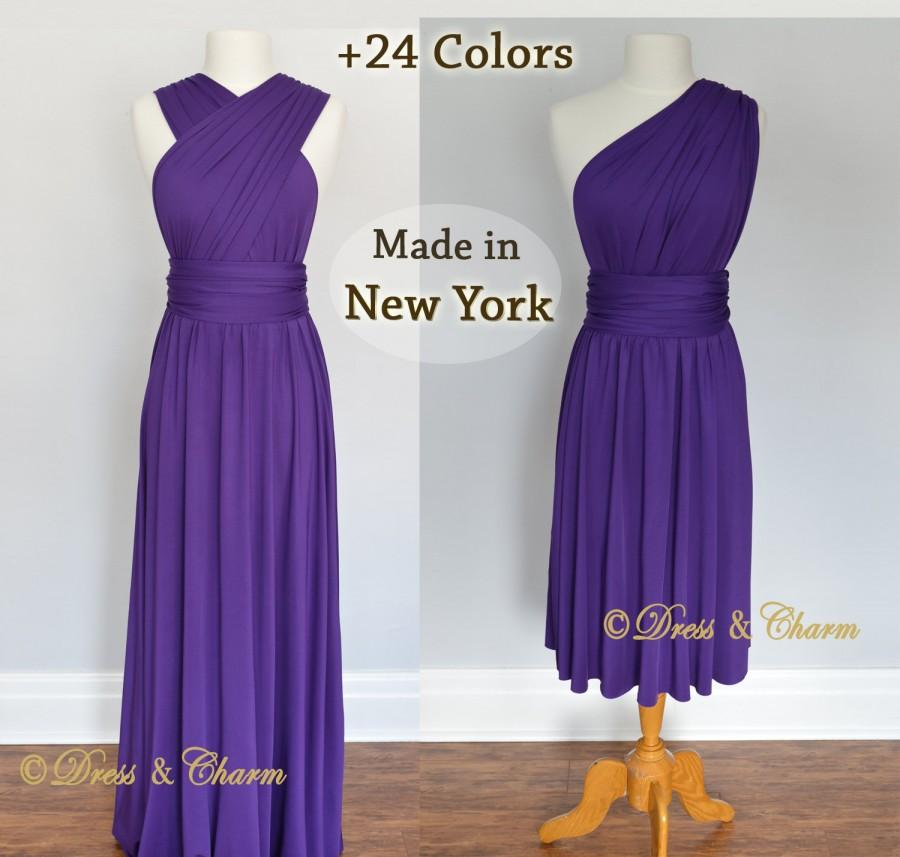 Purple Bridesmaid Dress, Party Dress, Convertible Dresses, Infinity ...