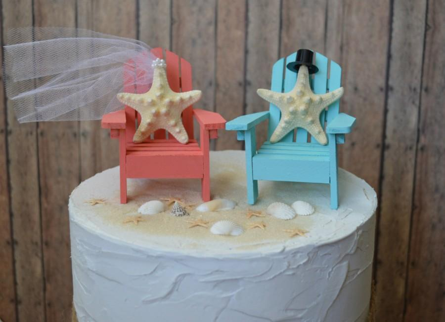 زفاف - Adirondack beach wedding chairs-Adirondack chairs-wedding cake topper-beach chairs-beach wedding-destination wedding-beach-custom