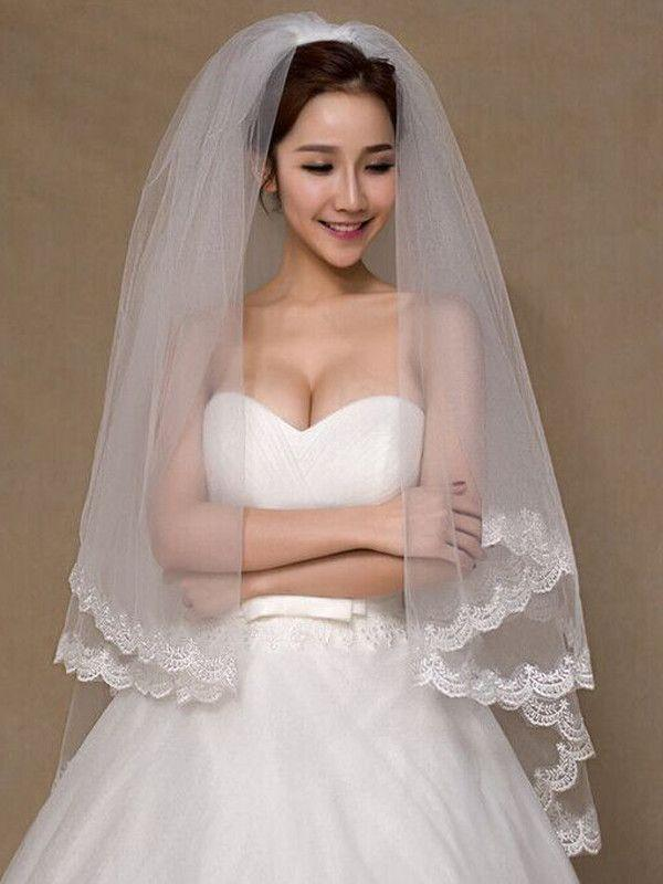 Mariage - Soft Tulle Lace Wedding Veil