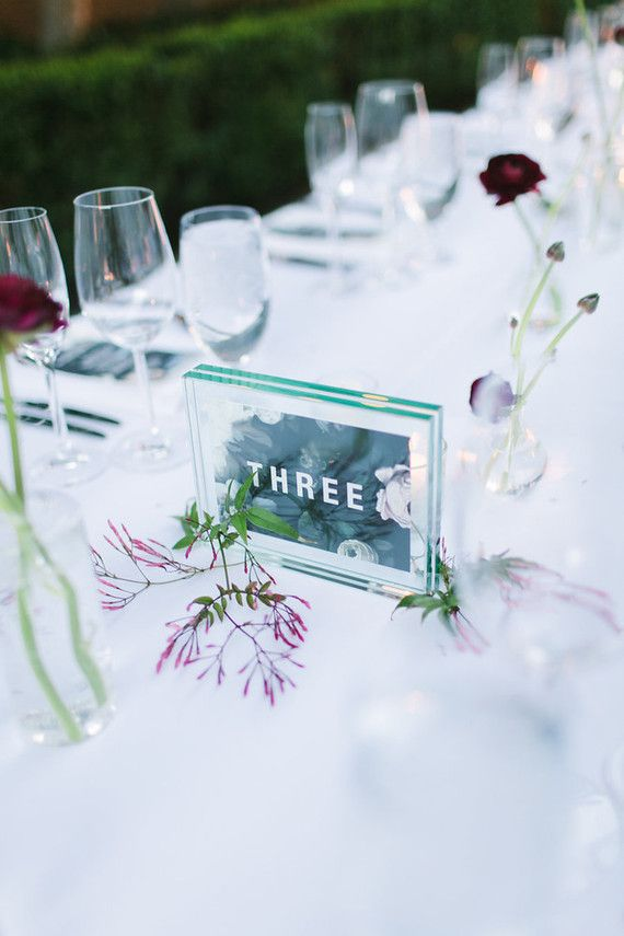 Mariage - Personalized table number
