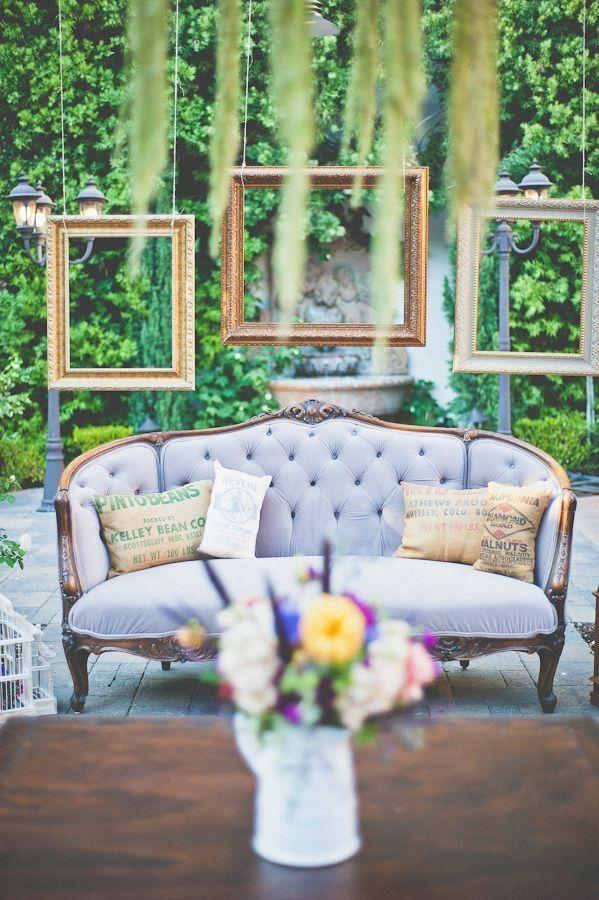 Wedding - Vintage Couch Used For Reception Lounge