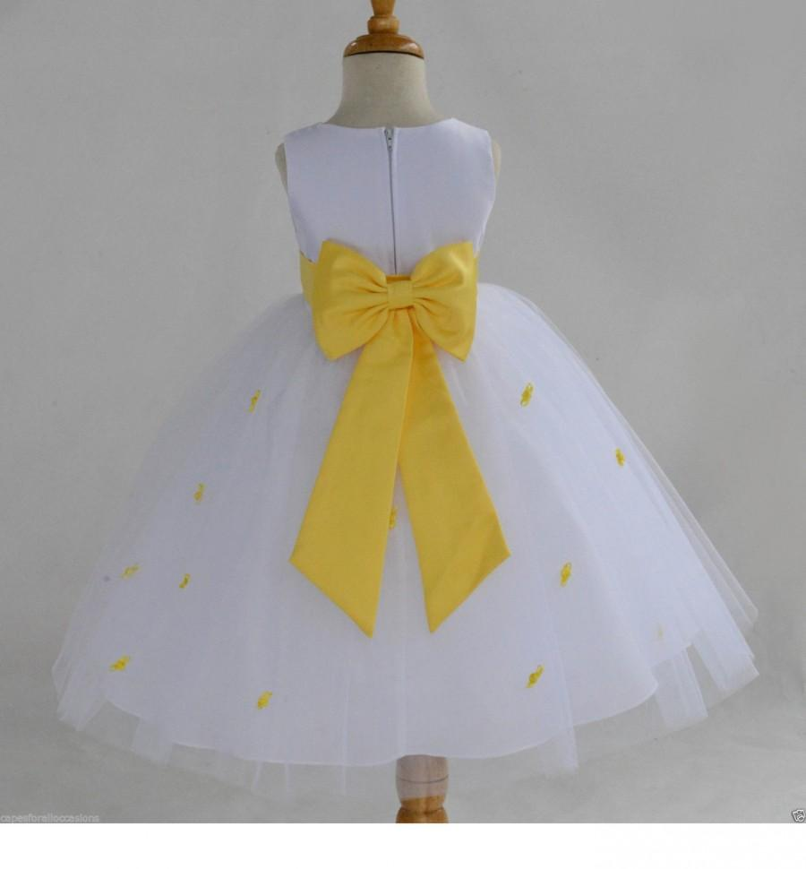 Flower girl dresses yellow and white wedding dresses in jax flower girl dresses yellow and white 7 mightylinksfo