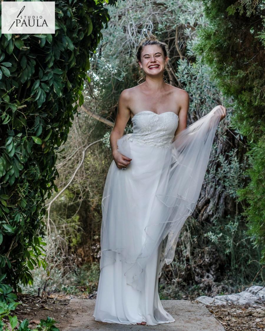 Lace Wedding Dress Tulle Wedding Dress Bohemian Wedding Dress Beach ...