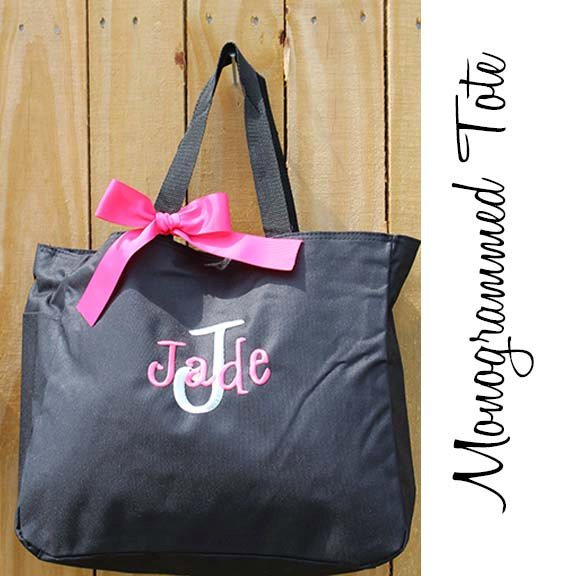 Mariage - Personalized Bridesmaids Gift Tote Bags Set of 6 Monogrammed Tote, Bridesmaids Tote, Personalized Tote