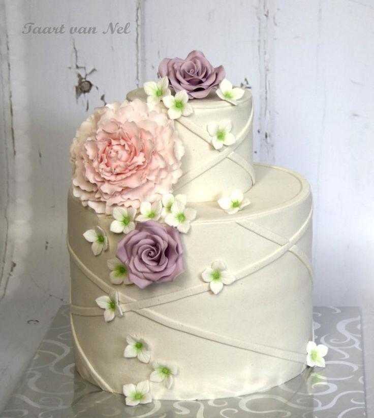 Cake Peony Wedding Cake 2507029 Weddbook - Peony Wedding Cake