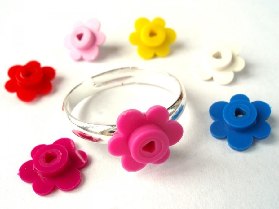 Свадьба - Flower Ring - Handmade with LEGO(r) flowers