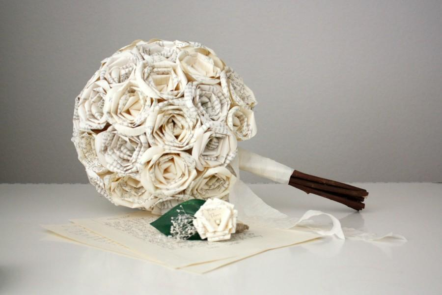 Mariage - Your Love Letter Bouquet and Boutonniere Bridal Set