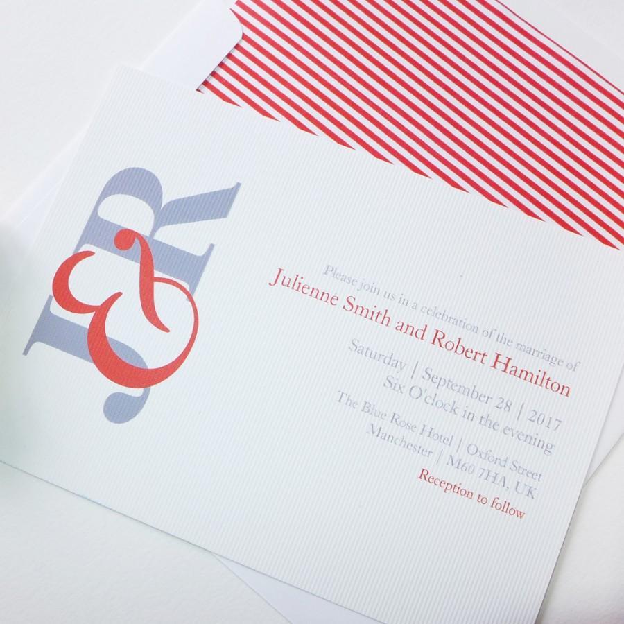 Свадьба - Fiesta, a contemporary monogram wedding invitation