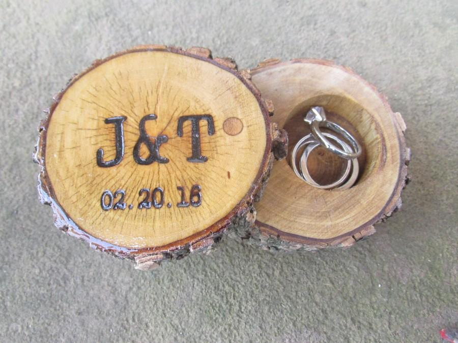 Свадьба - Elm Ring Box