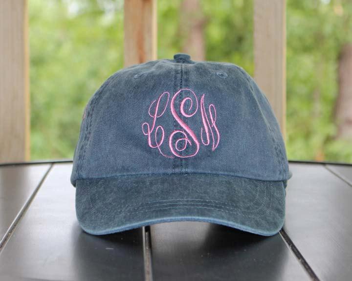 زفاف - Monogrammed Baseball Cap, Bridesmaid Gift, Groomsman Gift, Personalized, Monogrammed Hat