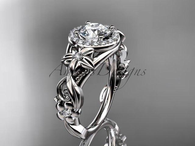 Hochzeit - Platinum diamond unique engagement ring,wedding ring ADLR300