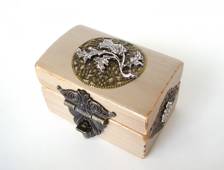 Engagement Ring Box Ring Bearer Box Thistle And Celtic Knots