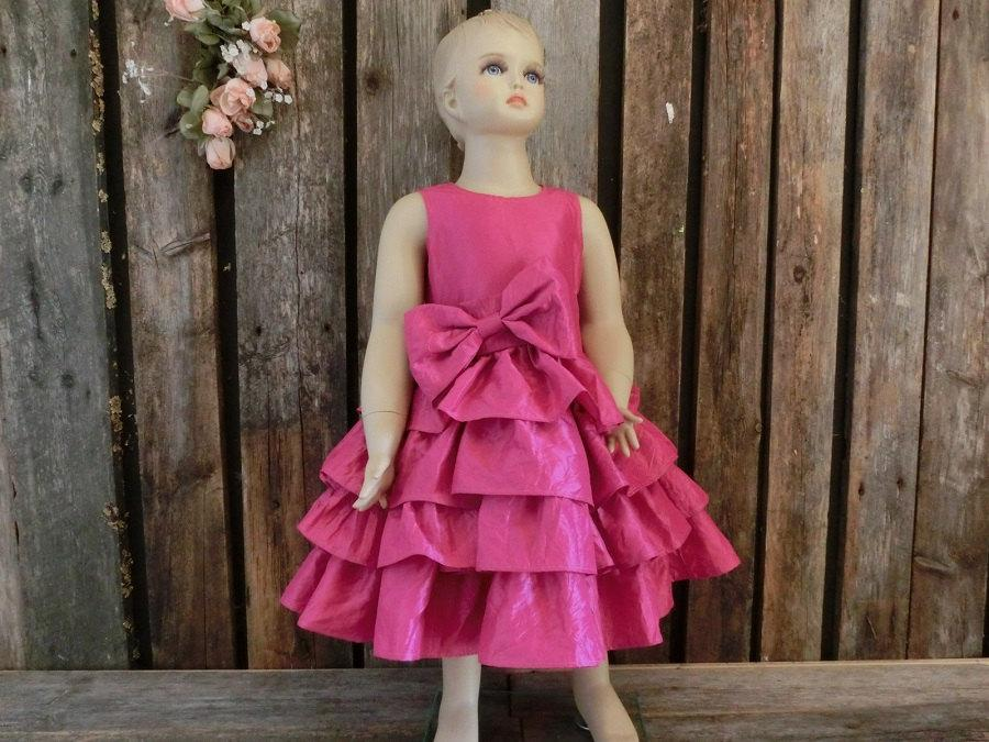 Hot Pink Toddler Flower Girl Dresses 86