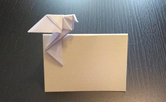 Mariage - Wedding placecard, blank wedding place card, place card for wedding,wedding table decoration, Place card with dove, origami dove for wedding