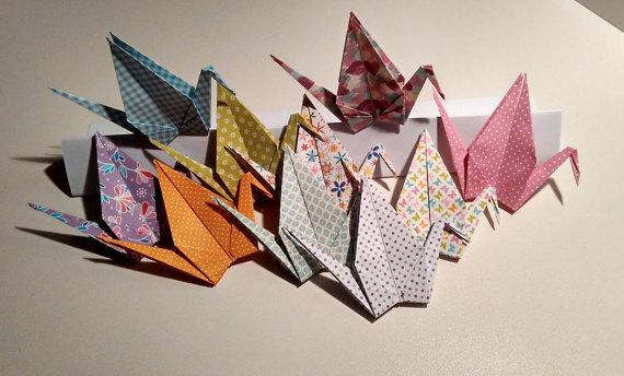 Origami Cranes Printed Spring Love Crane Decoration Wedding Decor