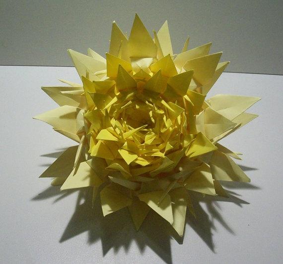 Origami Crane Flower Table Decoration Centerpiece Lily Bouquet For Wedding
