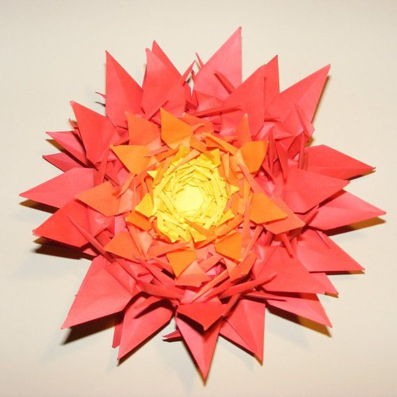 Origami Flower Origami Flower Crane For Wedding Wedding Decoration