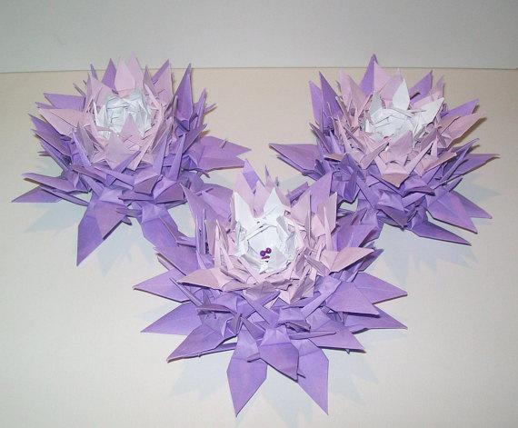 10 Origami Crane Flower Origami Crane Wedding Decoration Crane
