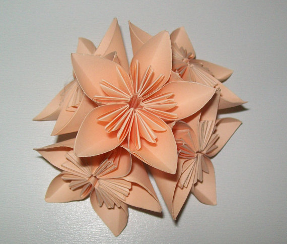 زفاف - Paper origami flower, kusudama flower, kusudama origami flower, set of 100 origami flower, paper flower for wedding, wedding flower