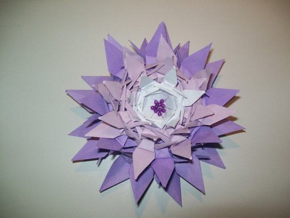 Origami Crane Flower Lilywedding Decoration Wedding Lily Centerpiece Paper Bouquet