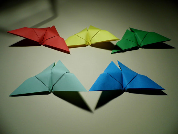 Свадьба - 100 Origami Butterfly, Handmade butterfly, Wedding Butterfly, Origami Wedding, Origami Paper Butterfly, butterflies, paper goods
