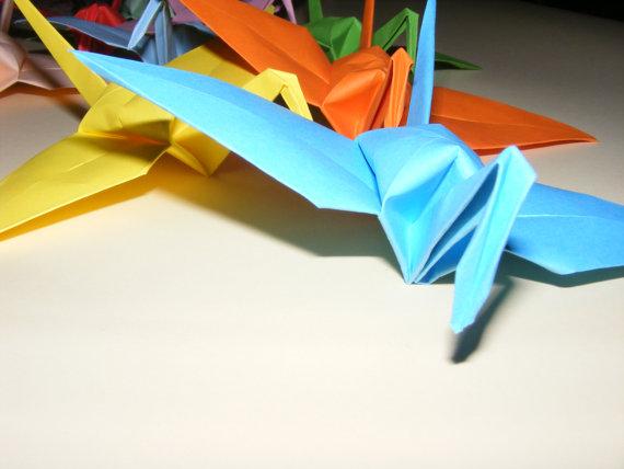 Wedding - Origami Paper Wedding Crane, Set of 100 Wedding Crane, Origami Crane, Handmade Crane, Wedding Decoration Origami Crane, Origami wedding
