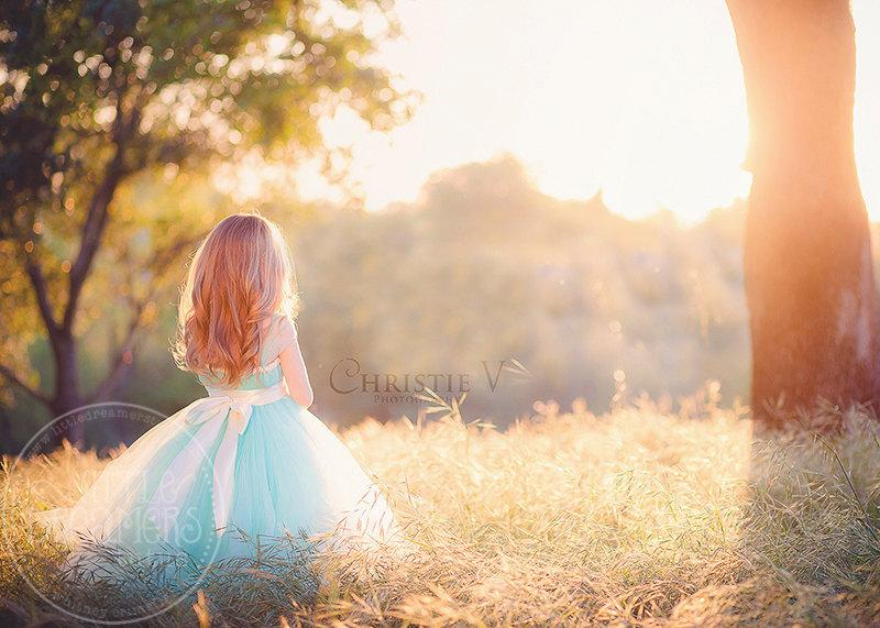 Mariage - Seafoam Flower Girl Tutu Dress