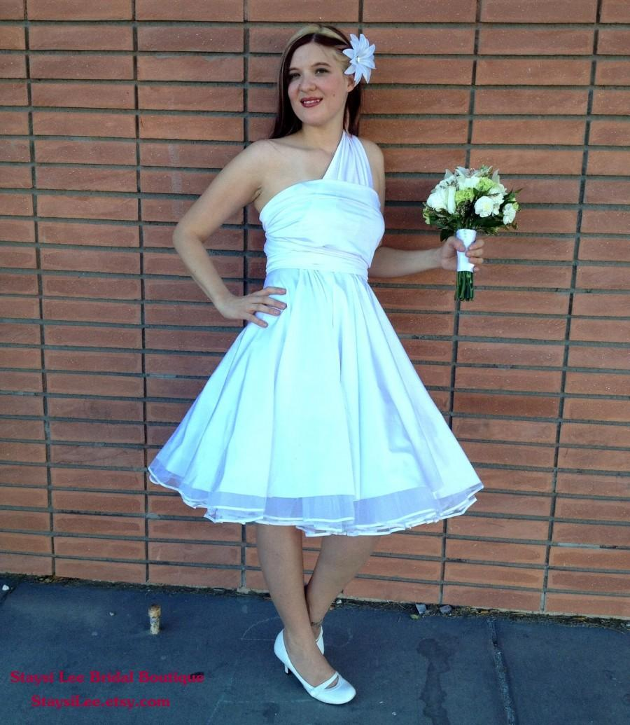 Mariage - 1950s Rockabilly Wedding Dress with Petticoat  ... Bridesmaids, VLV, Car Show, Wedding, Date Night, Cocktail Party