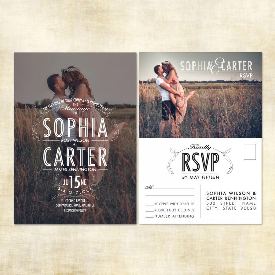 Sample Photo Wedding Invitation RSVP Postcard 2507392 Weddbook