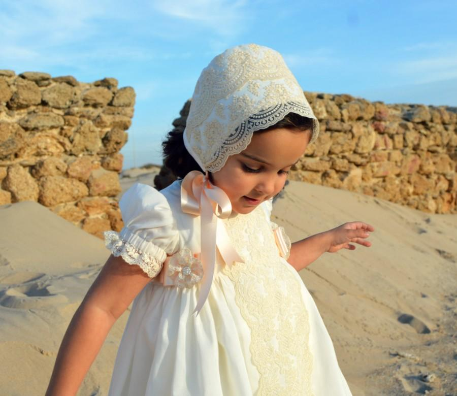 Wedding - MARIA (1T to 6+ years).Toddler.Girl. Dress.Gown.Imperial batiste,swiss lace.Custom your OWN outfit.Baptism.Heirloom.Easter.Wedding.Communion