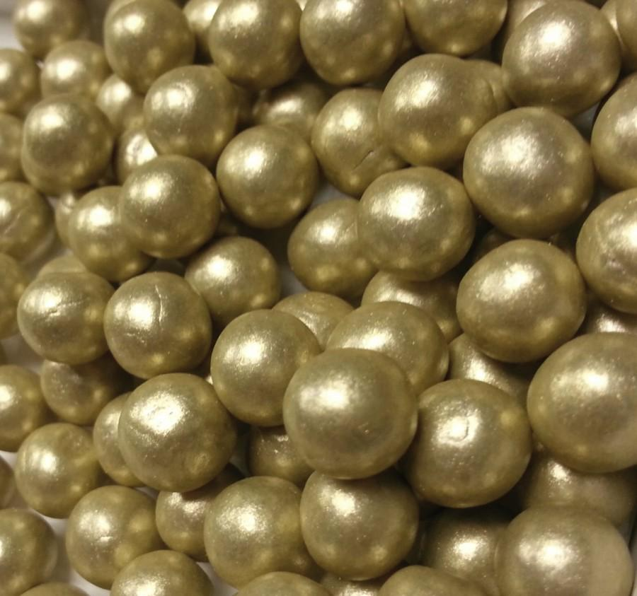 Fondant Edible Pearls - Gold Edible Pearls - Wedding Cake ...