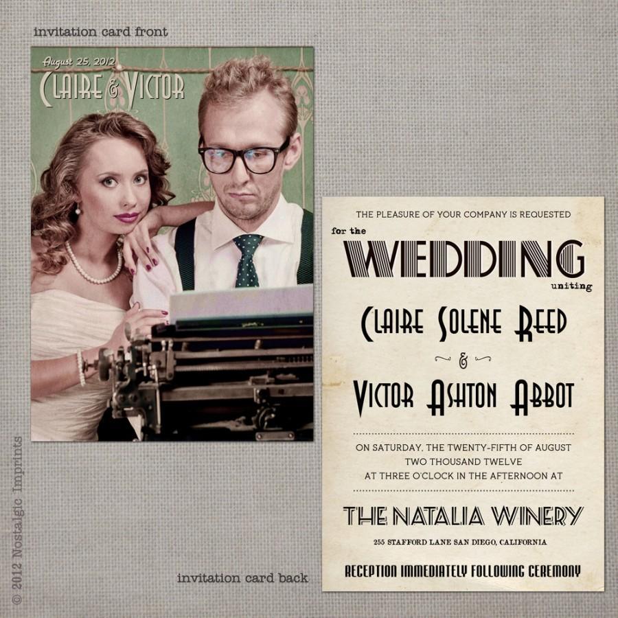 Wedding Invitation Wedding Invitations Wedding Invites Vintage