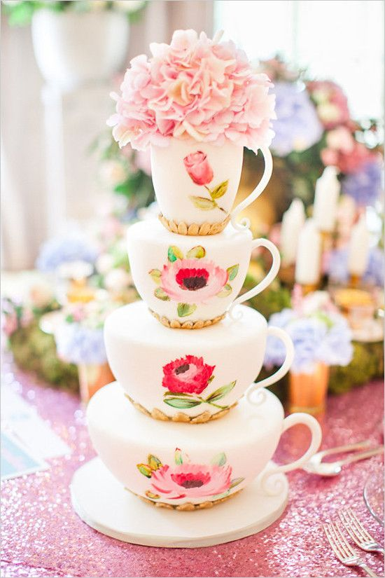 Pastel Tea Party Wedding Ideas