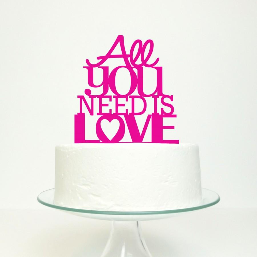 Wedding Cake Topper - \'All You Need Is Love\' Miss Cake Original ...