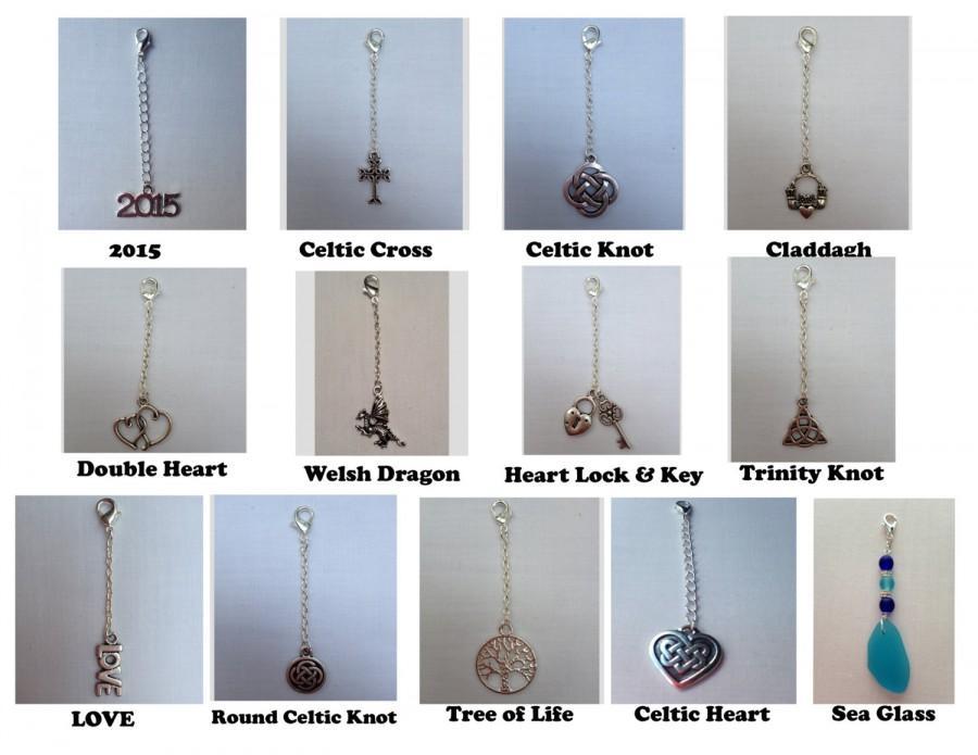 زفاف - Charms for Handfasting Cords (with chain and Lobster Claw clasp attached)