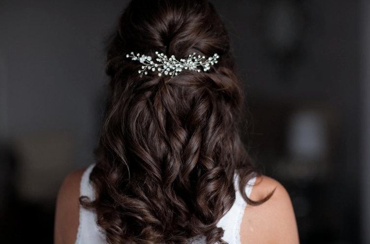 Mariage - Rhinestone Hair Comb, Wedding Hair Pins, Bridal Rhinestone Hair Vine, Bridal Headpiece