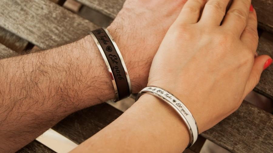 Personalized Couples Bracelets Gift For Couple Husband Wife Gift
