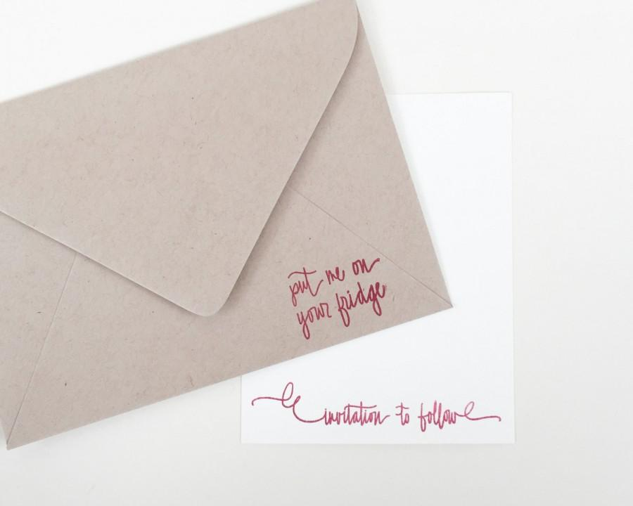 Mariage - Put me on your fridge stamp - invitation to follow stamp - invitation stamp - wedding save the date stamps - wedding stamp