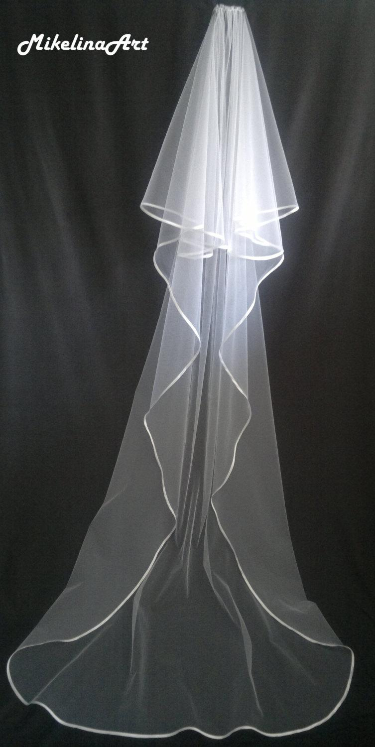 Mariage - Cathedral Veil,Two Layers, White