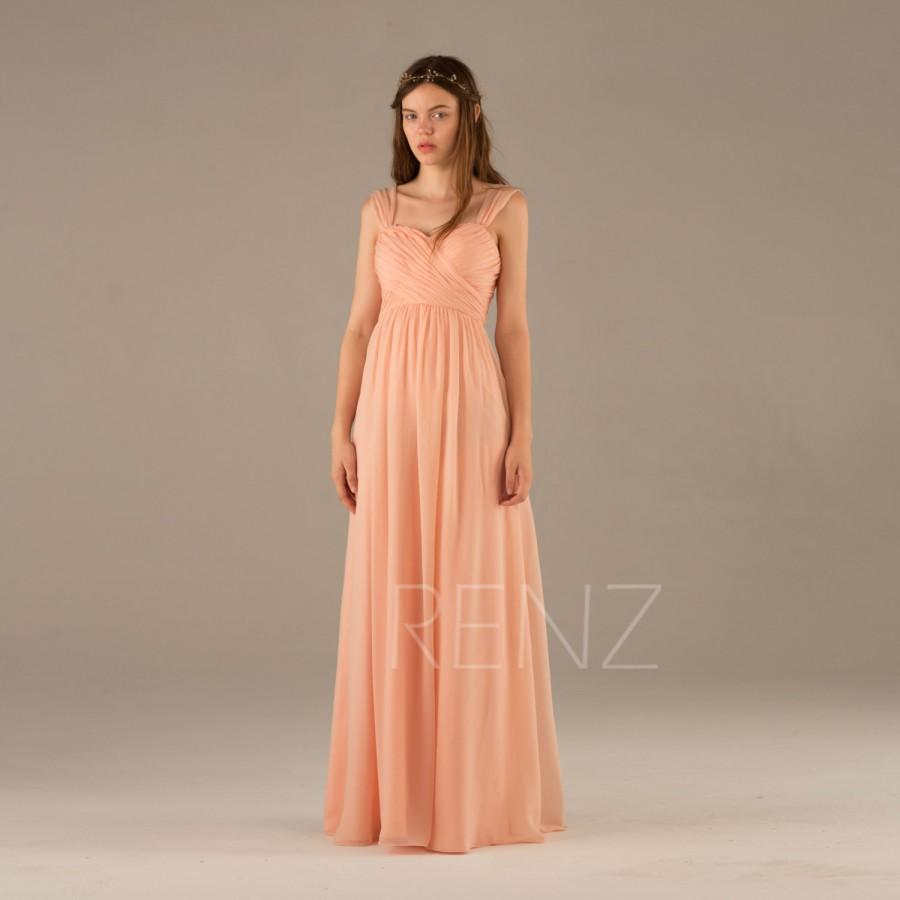 2016 peach maxi bridesmaid dress long backless wedding dress 2016 peach maxi bridesmaid dress long backless wedding dress criss cross chiffon formal dress sweetheart prom dress floor length t121b ombrellifo Images