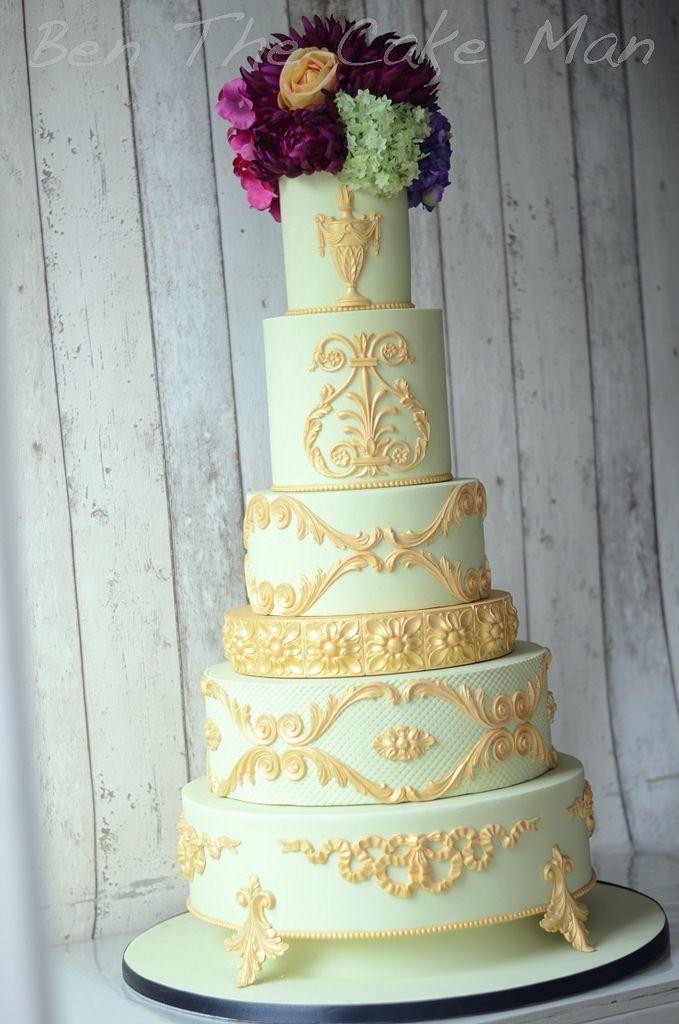 Cake - Gold Metallic Wedding Cake #2508120 - Weddbook