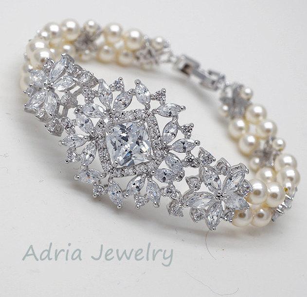 Crystal Bridal Bracelet 0d6192c573