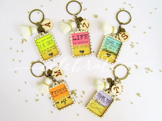 Wedding Gift For Special Friend : Personalized Engraved Wooden Key chain Wedding Gift for MIL bridesmaid ...