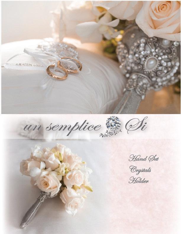 Hochzeit - Brooch Bouquet Holder, Crystal Bouquet Holder,