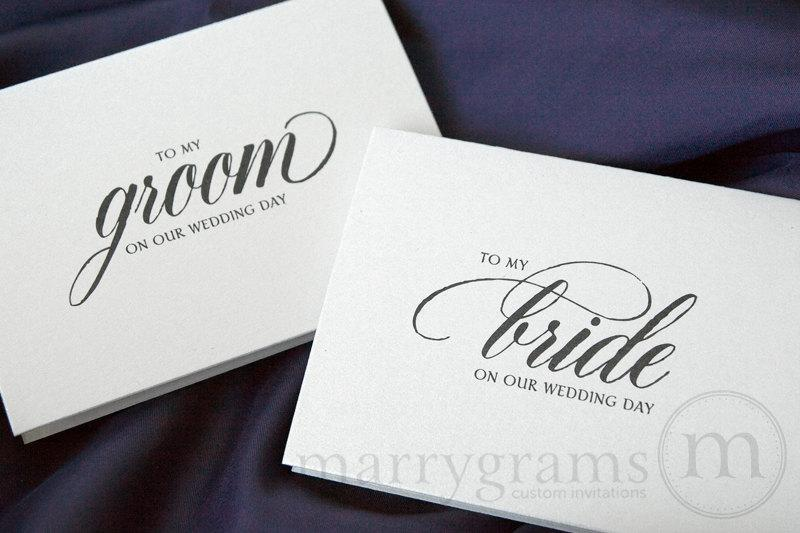 Wedding Gift From Groom To Bride On Wedding Day : ... Wedding Day - To My Groom on Our Wedding Day - Cute, Sweet Groom Gift
